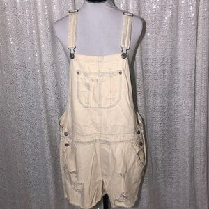 NWT American Eagle Distressed Overall Shorts